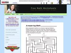 A-maze-ing Math Worksheet