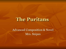 The Puritans Presentation