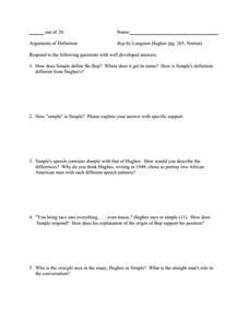Bop - Langston Hughes Essay