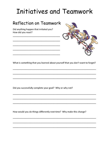 Initiatives and Teamwork 5th - 8th Grade Worksheet | Lesson Planet