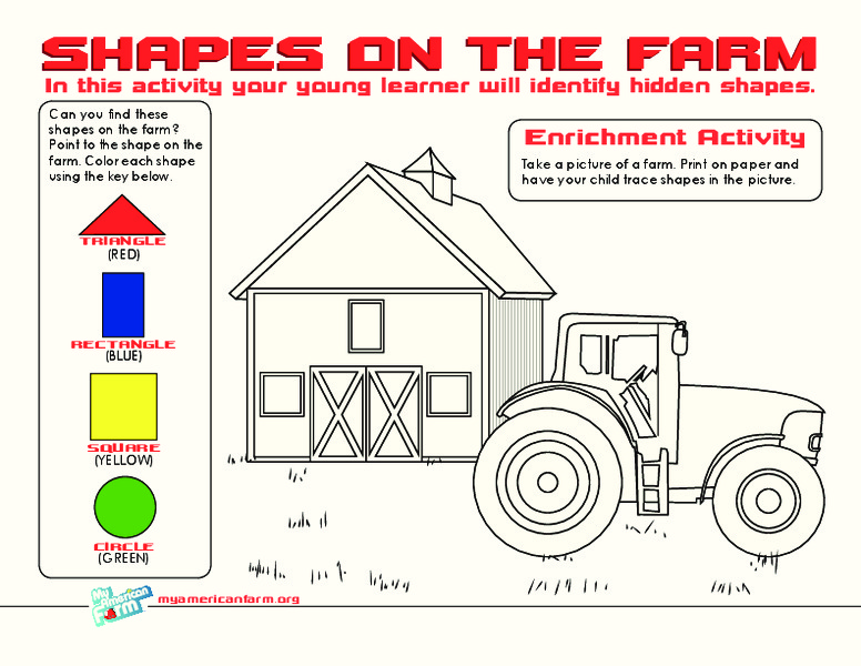 Shapes on the Farm Worksheet