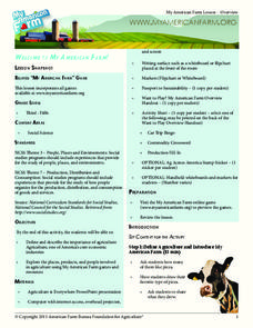 Welcome to My American Farm! Lesson Plan
