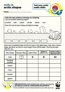 Arctic Shapes Worksheet