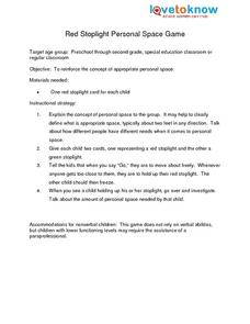 Identifying Personal Boundaries Lesson Plans Worksheets Lesson