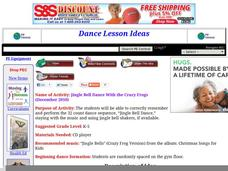 Jingle Bell Dance With the Crazy Frogs Lesson Plan