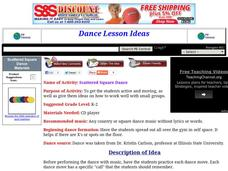 Scattered Square Dance Lesson Plan