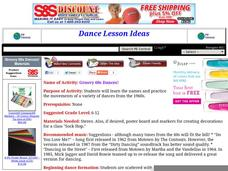 Groovy 60s Dances! Lesson Plan
