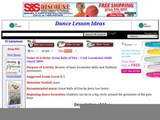 Great Balls of Fire - I Got Locomotor Skills Lesson Plan
