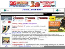 Swiss Ball Square Dance Lesson Plan