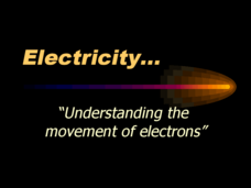 Electricity. . . Understanding the Movement of Electrons Presentation
