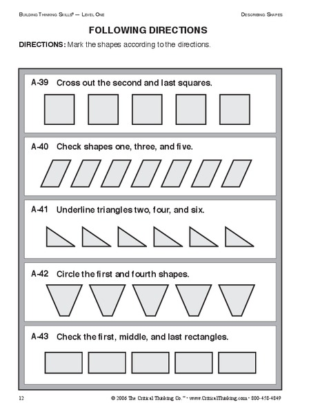 following directions worksheet for 2nd 3rd grade lesson planet. Black Bedroom Furniture Sets. Home Design Ideas