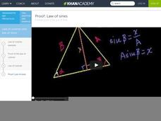 Proof: Law of Sines Video