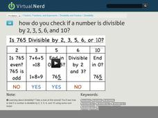 How Do You Check if a Number is Divisible by 2, 3, 5, 6, and 10? Video
