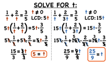 How Do You Solve a Rational Equation by LCD Multiplication? Video