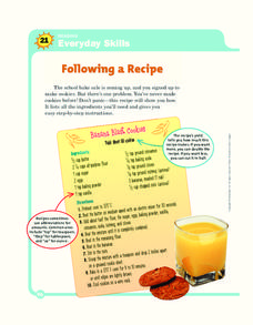 Following a Recipe Worksheet