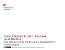 Close Reading: The Introduction to the Universal Declaration of Human Rights Lesson Plan