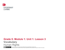 Vocabulary: Human Rights Lesson Plan