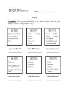 German Food Lesson Plans & Worksheets Reviewed by Teachers
