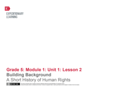 Building Background: A Short History of Human Rights Lesson Plan