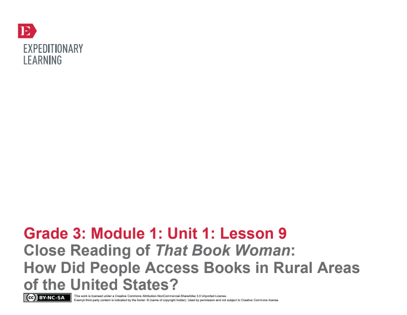 Close Reading of That Book Woman: How Did People Access Books in Rural Areas of the United States? Lesson Plan