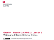 Writing to Inform: Colonial Trades Lesson Plan
