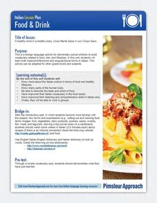 Food and Drink Lesson Plan