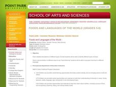 Food and Languages of the World Lesson Plan
