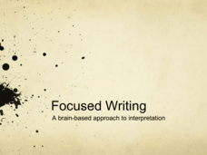 Focused Writing: A Brain-Based Approach to Interpretation Presentation