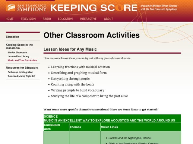 Lesson Ideas for Any Music Activities & Project