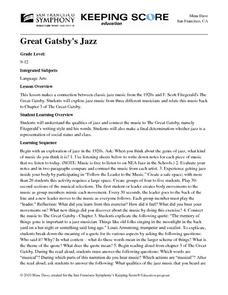 Great Gatsby's Jazz Lesson Plan