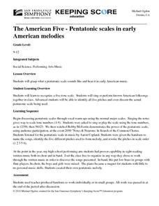 The American Five - Pentatonic scales in early American melodies Lesson Plan