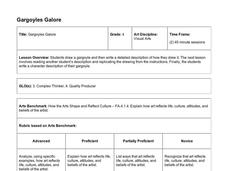Gargoyles Galore Lesson Plan