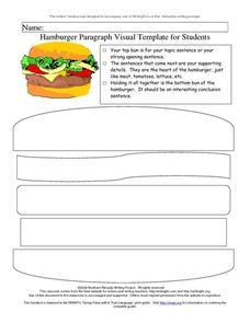 Hamburger Paragraph Visual Template for Students Printables ...
