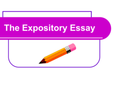 The Expository Essay Presentation