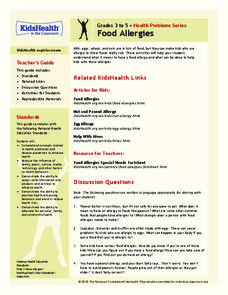Food Allergies Lesson Plan