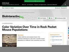 Color Variation over Time in Rock Pocket Mouse Populations Lesson Plan