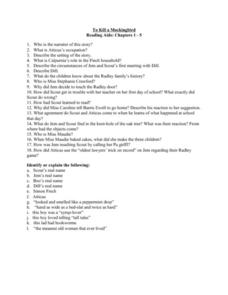 to kill a mockingbird questions chapter 1