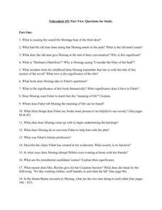 Fahrenheit 451 Study Questions Part 2 Worksheet for 9th ...