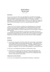 Study Guide to The Four Loves Study Guide