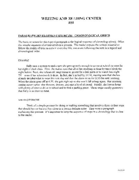 Developmental order essay