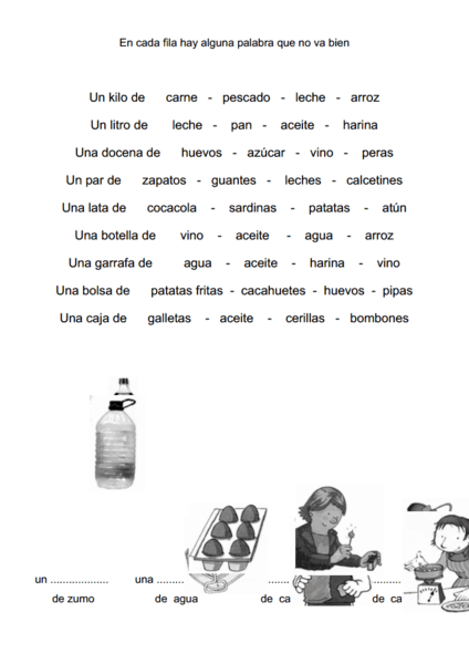 Units in Spanish Worksheet
