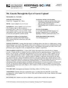 Mr. Lincoln Through the Eyes of Aaron Copland Lesson Plan