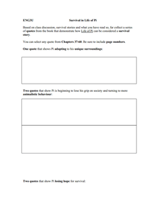 life of pi lesson plans worksheets reviewed by teachers. Black Bedroom Furniture Sets. Home Design Ideas