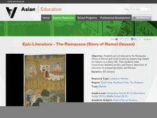 Log in or sign up to save resources Epic Literature - The Ramayana (Story of Rama) Lesson Plan