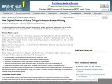Use Digital Photos of Scary Things to Inspire Poetry Writing Lesson Plan