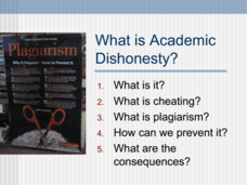 What is Academic Dishonesty? Presentation