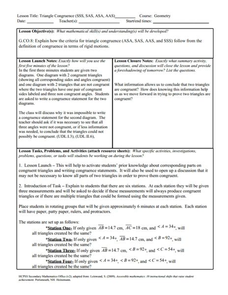 Sss Sas Asa Aas Lesson Plans Worksheets Reviewed By Teachers