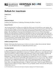 Ballads for Americans Lesson Plan