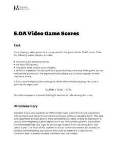 Video Game Scores Activities & Project