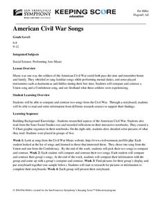 American Civil War Songs Unit